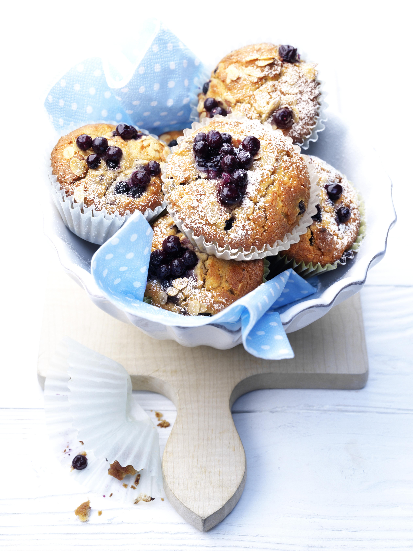 blaubeermuffins mit haferflocken